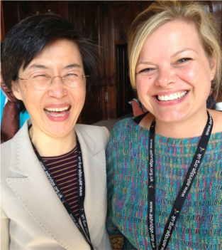 Genevieve Cother of the Action Learning Institute with Assoc. Professor Yon Joo Cho from Indiana University